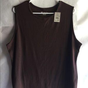 Cato brown sleeveless top